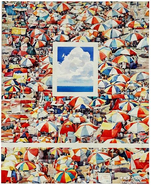 入选全国学院水彩艺术展,《中国水彩》发表 陈邕 水彩画6 《 阳光下